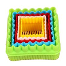 Baking tools eco friendly plastic square fondant cake biscuit