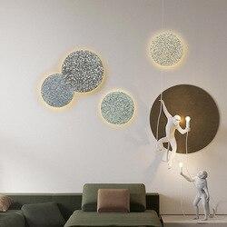 Kinkiet Nordic spersonalizowany projekt hall kinkiet nowoczesny prosty lampka nocna korytarz schody oświetlenie cementowe