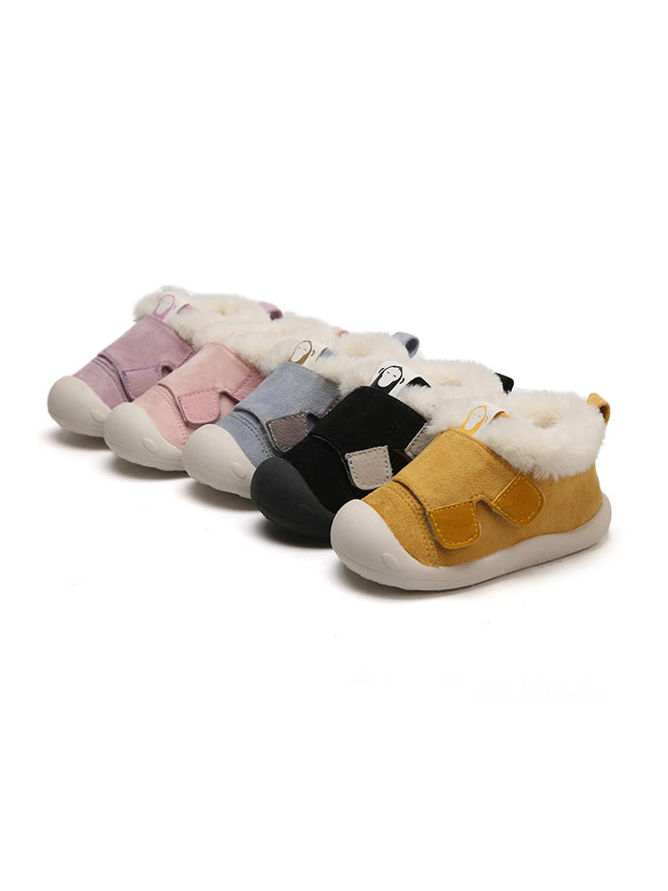 Toddler Boots Shoes Non-Slip Plush Infant Baby-Girls Outdoor Boys Winter Child Warm Soft-Bottom