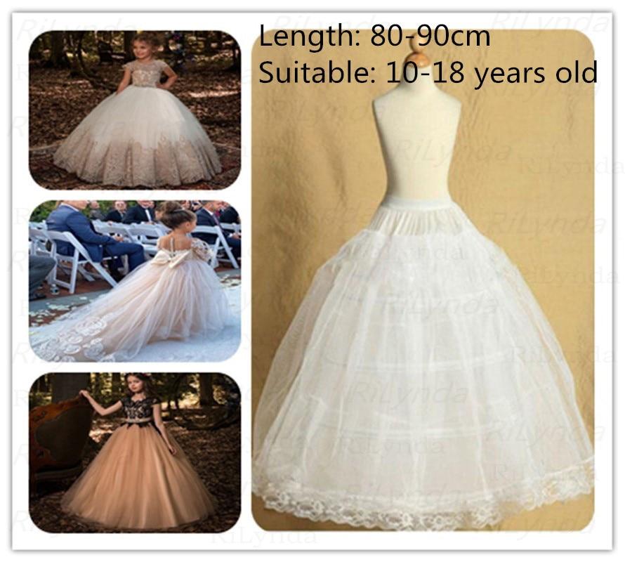 3Hoop Lolita Skirt For Pettiskirt Kids Wedding Flower Girls Petticoat Underskirt Slips Princess For Child 1-19 Years Vestidos