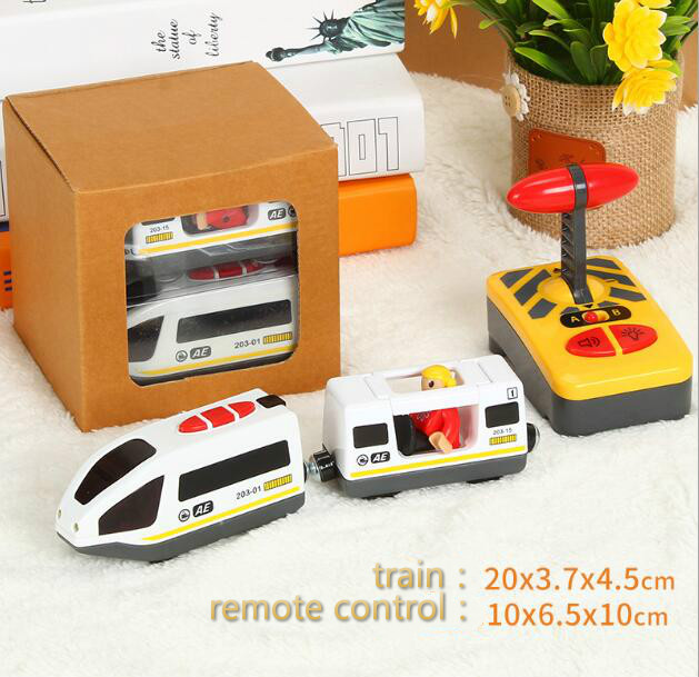 Electric Trains Motorized Train Set Compatible With Brio Train Track Railway Engine Locomotive Toys For Children