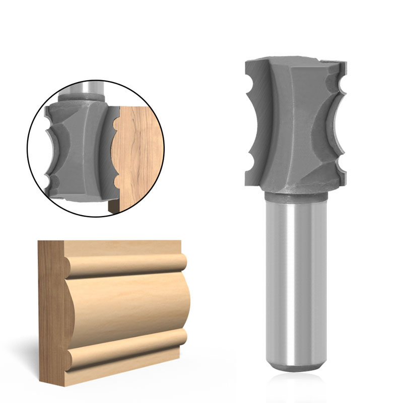 1 шт. 12 мм 1/2 дюйма, хвостовая фреза шарик для литья для вырезания гребней и флейта и Бисер линия фреза по дереву для соединения шип-паз фреза п...