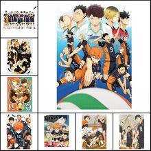 Anime cartaz de voleibol menino pintura da lona haikyuu estilo japonês dos desenhos animados poster arte da parede imagens para sala estar cuadros
