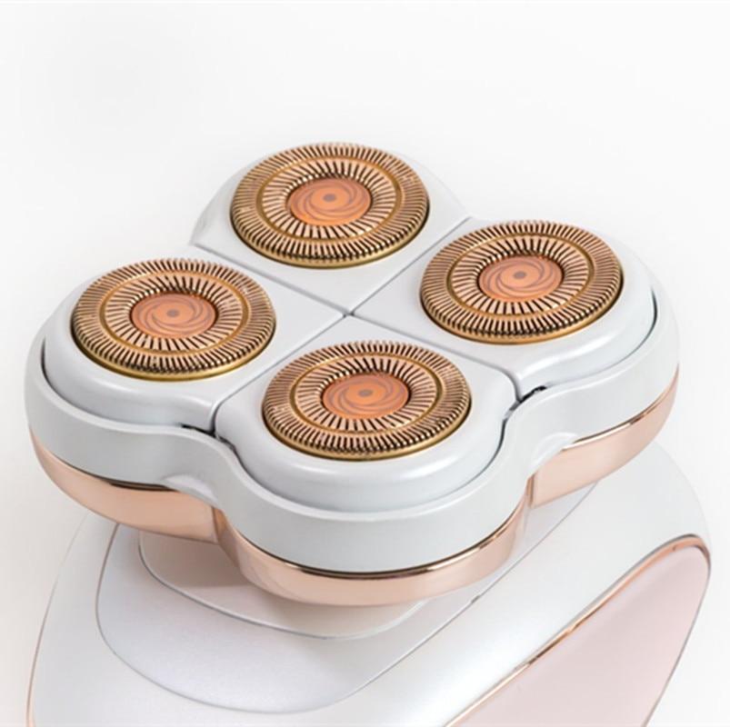 Electric Shaver Epilator Hair Removal Device Female Arm Legs Epilator Painless USB Rechargable Four-Head Body Depilator SkinCare