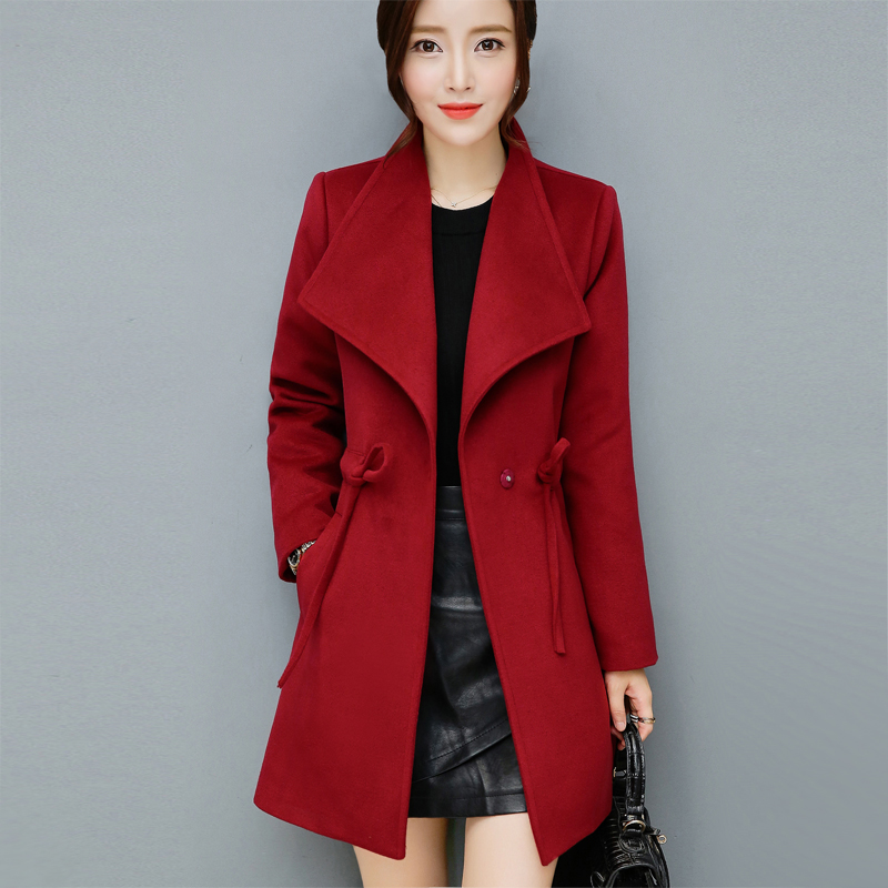 Cheap Wholesale 2017 New Autumn Winter Hot Selling Women's Fashion Casual Warm Jacket Female Bisic Coats A154-170919Z