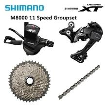 Shimano desviador deore xt m8000 drivetrain grupo, groupset com 11 velocidades, desviador para sgs 40t 42t 46t corrente 701 do cassete
