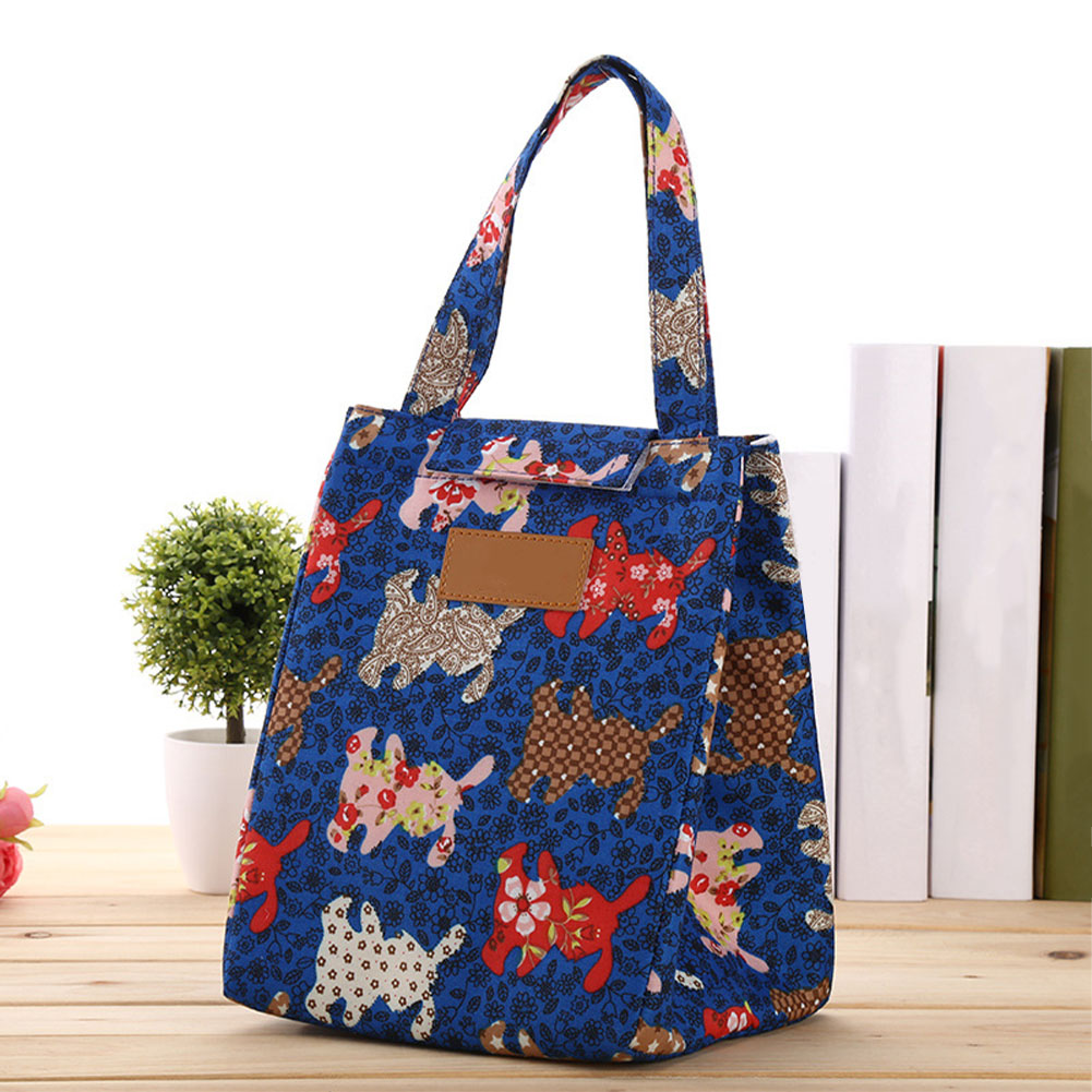 Handbag Insulated Food Container Tote Lunch Bag Cooler Camping Carrying Picnic Portable School Outdoor Oxford Cloth Bento Pouch
