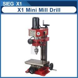 SIEG X1 Mini młyn i wiertarka 220V 150W bezszczotkowy silnik mikro wiertarka