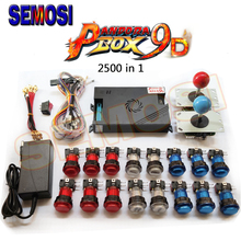 2500 In 1 Pandora's Box 9D Arcade Kit  1500 In 1 Pandoras Box 9 DIY Set with LED Push Button 5Pin Joystick for Game Console