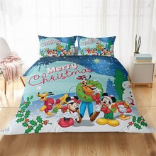 Disney Snow White Mickey Minnie Patterned Pillowcase with Eiderdown Cover for Girls Bedroom Decor with Cartoon Home Fabric