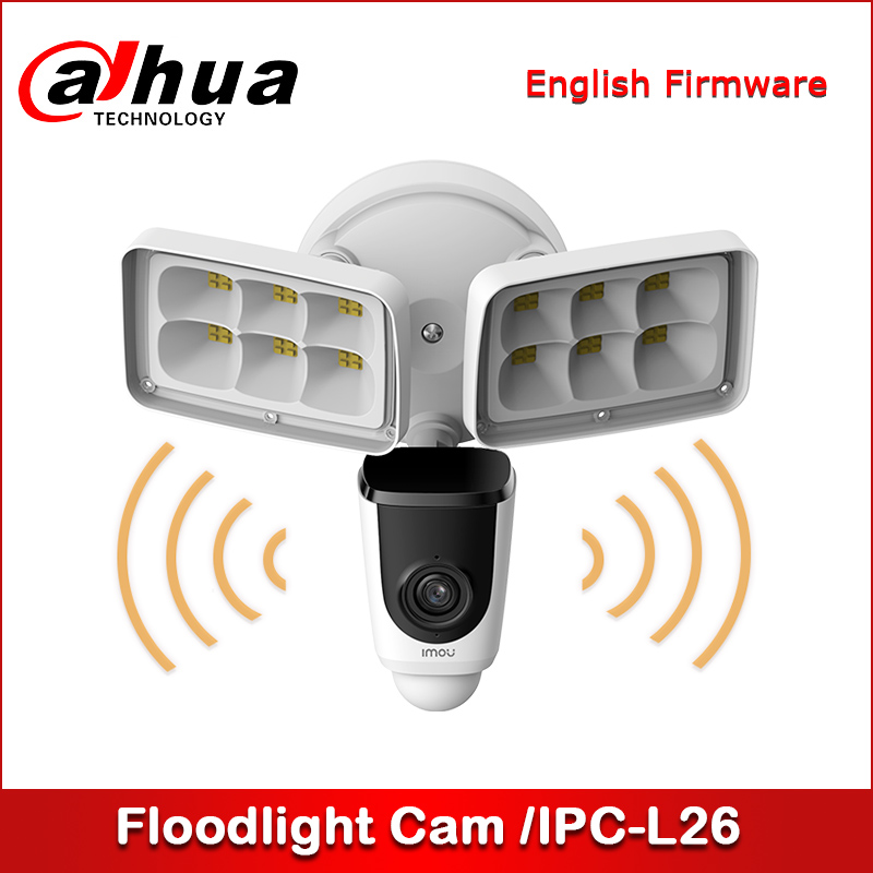 Dahua Imou Floodlight Cam IP Camera Outdoor Weatherproof Wifi Security Camera 1080P PIR Detection IPC-L26