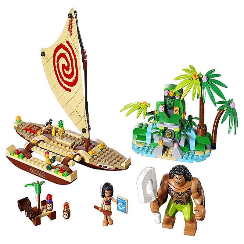 Bela 10663 princesse Moana Voyage océan bateau blocs de construction brique Compatible technique 41150 Playmobil jouets pour enfants