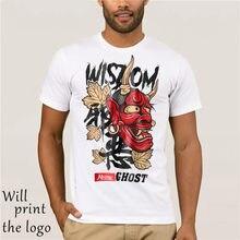 Fantasma-Camisetas estampadas para hombre, camisas masculinas de estilo Hip Hop, 2018