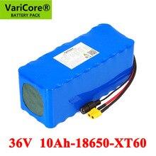 VariCore batería de litio para coche eléctrico, Scooter con BMS, 36V, 10000mAh, 500W, 42v, 18650