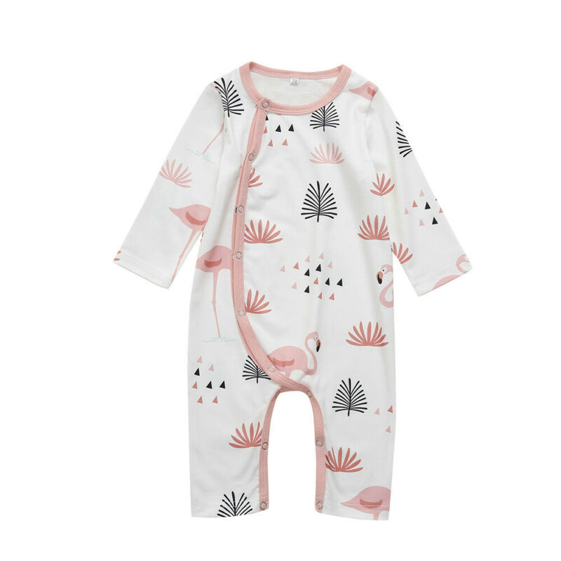 Baby Girls Kids Flamingo Printed Long Sleeve 100/% Cotton Infants Clothes