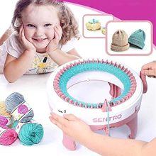 48 agulhas de lã artesanal máquina de tricô cilindro lã tear mão-malha cachecol camisola chapéu meias adulto crianças preguiçoso artefato