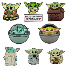 Cute Cartoon Anime Star Wars Master Yoda Baby Yoda Enamel Brooches Lapel Pins Bag Clothes Badges Jewelry Gift For Friends Fans цена 2017
