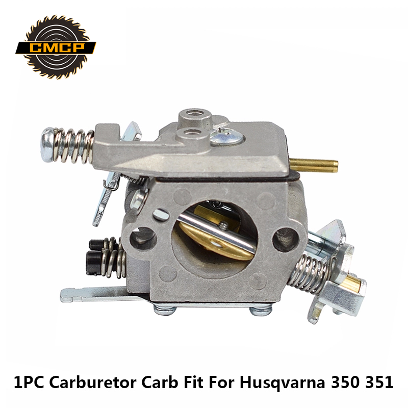 CMCP Gasoline Chainsaw Carburetor Carb Brush Cutter Carburetor Fit For Husqvarna 350 351 Chainsaw Spare Parts Garden Tool