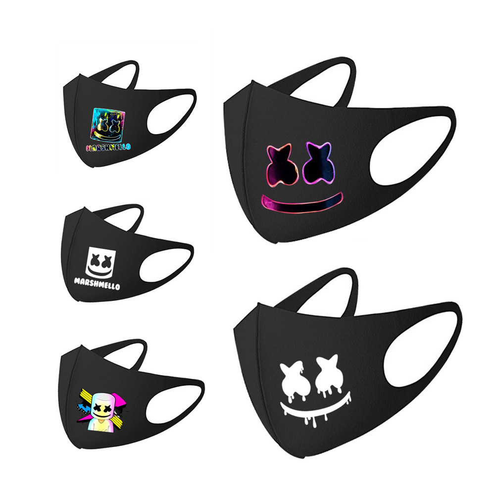 DJ Marshmello Mask Cotton Street Sports Half Face Dust-Proof Daily Protection Masks