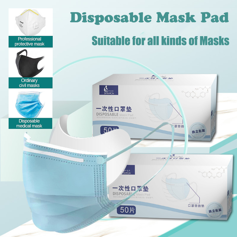100pcs Mask Respirator Filter Pad Nonwoven Soft Breathable Antiviral Prevention Suit For Kf94 N95 KN95 Ffp3 2 All Face Mask