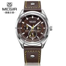 купить Mens Watches Top Luxury Brand Fashion Sport Men's Wristwatch Leather Quartz Military Watch Men  Waterproof Date Week Clock по цене 1256.38 рублей