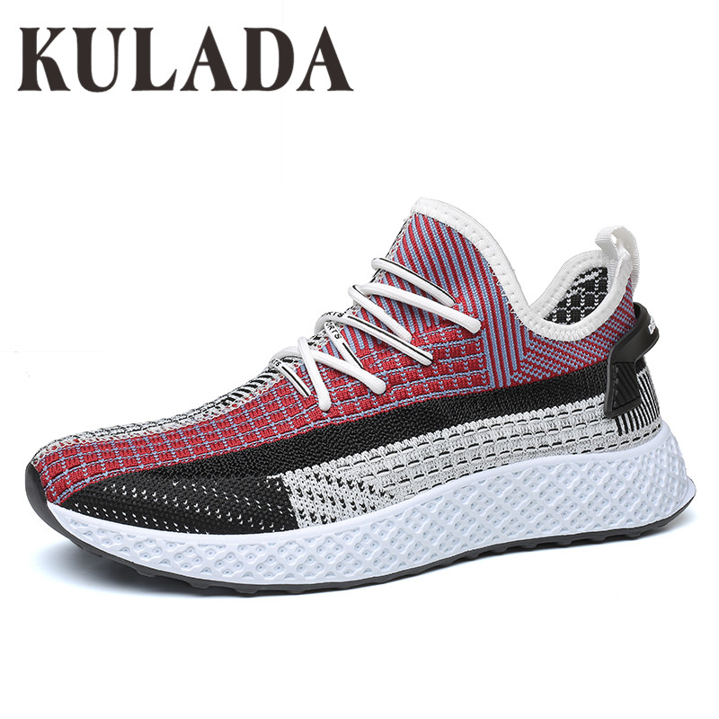 KULADA Sneakers Men Flyknit Breathable Casual Male Footwear Light Big Size Tenis Masculino Adulto Zapatos Shoes Men(China)