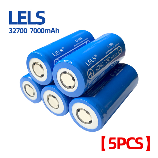 LELS  Lii 70A 3.2V LiFePO4 32700 Battery 7000mAh Continuous Discharge Maximum 55A High power battery