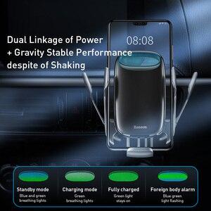 Image 4 - Baseus Auto Telefoon Houder Draadloze Oplader Voor Iphone Ondersteuning Quick Charge 3.0 Air Vent Mount Houder Auto Draadloze Opladen Houder
