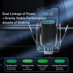 Image 4 - Baseus araç telefonu tutucu kablosuz şarj için iPhone desteği hızlı şarj 3.0 hava firar dağı tutucu araba kablosuz şarj tutucu