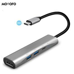 USB C Hub 3.1 Thunderbolt 3 do 4K adapter HDMI USB-C do wieloportowego portu HDMI 80W USB C PD dla MacBook/Pro Dell XPS HP Spectre