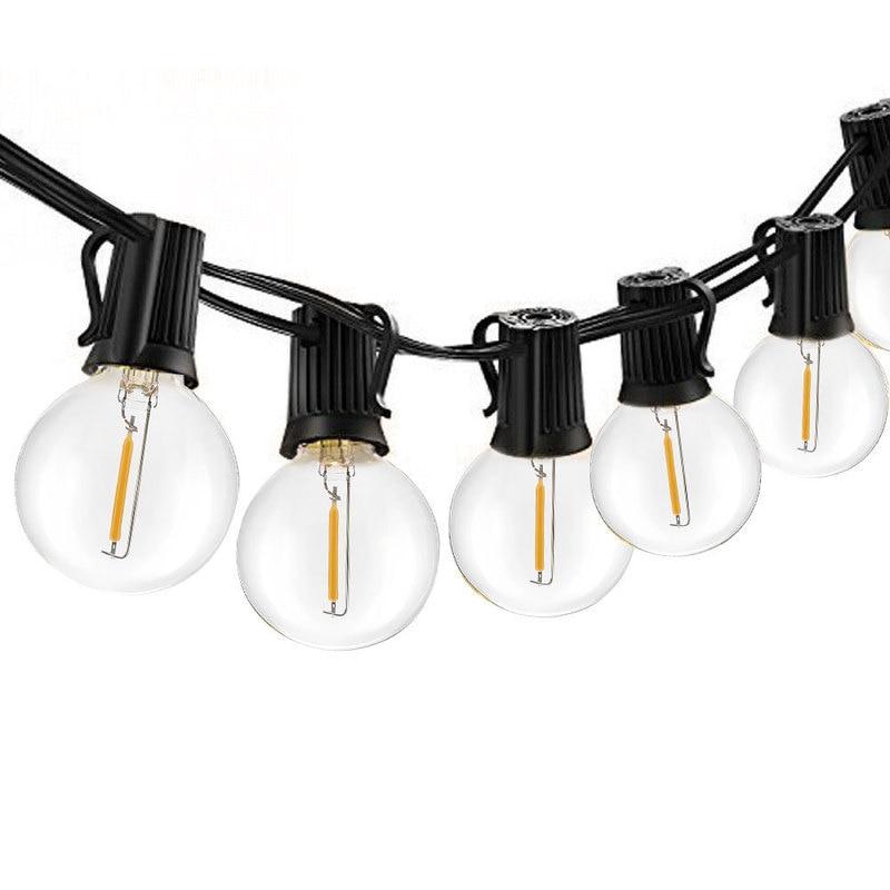 LEVOU Guirlanda G40 Solar LED Filament Luz