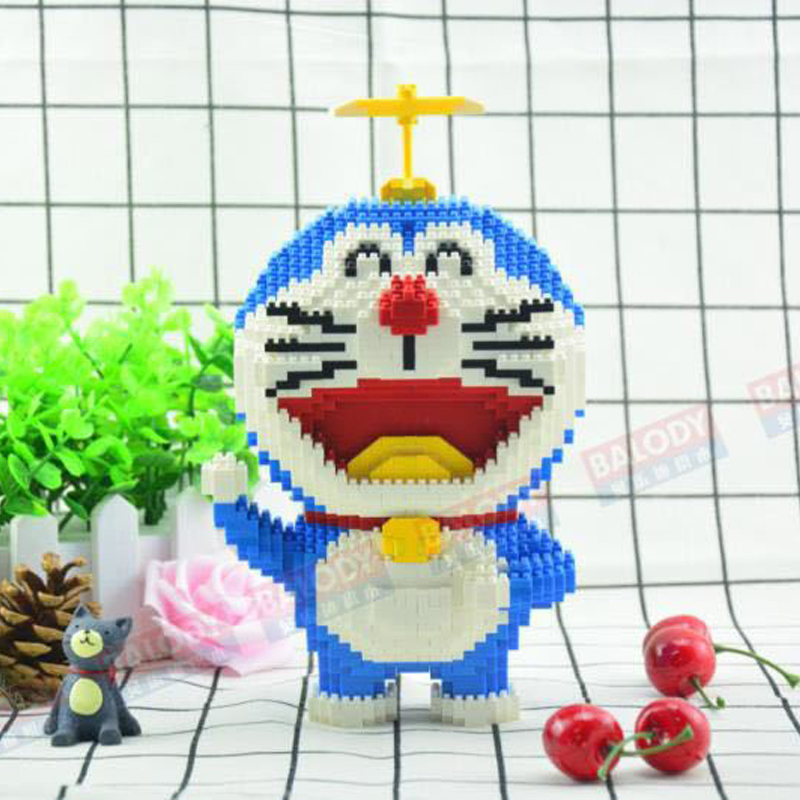 Balody Anime Doraemon Blue Cat Animal Diamond Mini DIY Building Nano Block Toy