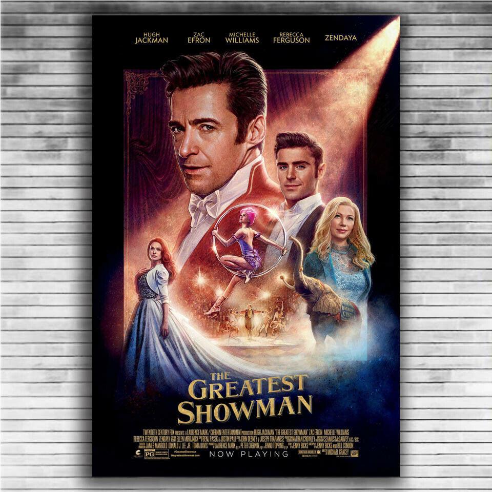 Hugh Jackman Film The Greatest Showman Movie Fabric Poster