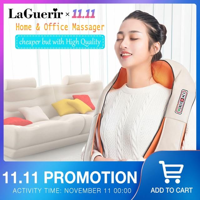 Masajeador eléctrico para espalda, hombros, cuello, infrarrojos, masaje caliente, coche/hogar, chal multifuncional