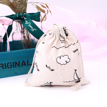 Fashion Portable Drawstring bags 14x16cm 5pcs Girl Shoes Bags Women Cotton Pouch Storage Clothes handbag High Quality Makeup bag