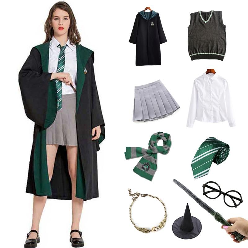 Костюм на Хэллоуин для взрослых и детей, костюм Гермиона Грейнджера, женская школьная форма, одежда, одежда для косплея, вечеринки| |   | АлиЭкспресс