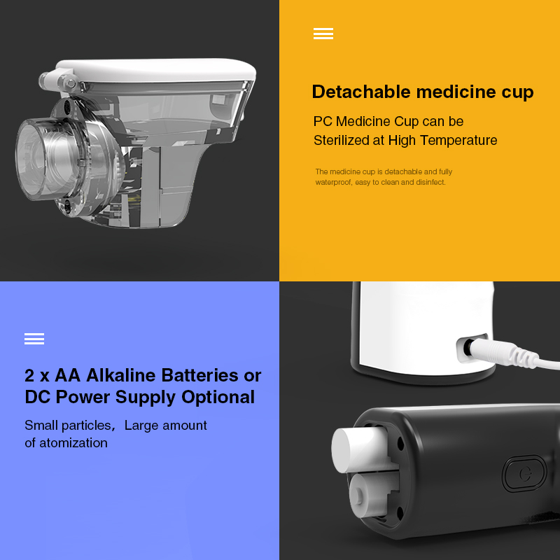 BOXYM Handheld  Medical Nebulizer Machine with Dual Wave Drive and Detachable Medicine Cup 4