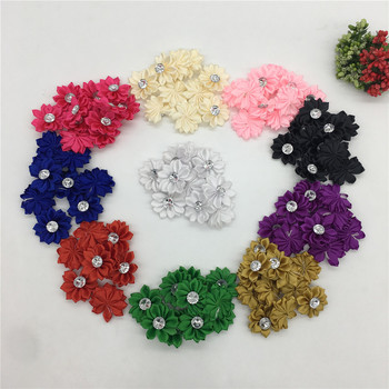 Polyester tape Rhinestone artificial flower head flower wedding Christmas home decoration DIY wreath scrapbook gift box craft image