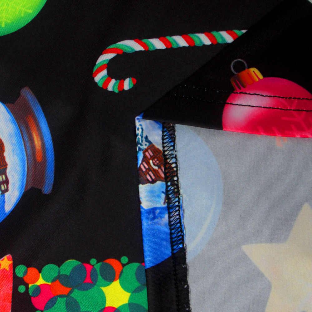 Осень-зима рождественское платье Новый год фестиваль Семья вечерние платье Для женщин со снежинками и длинные рукава плюс Размеры S-5xl