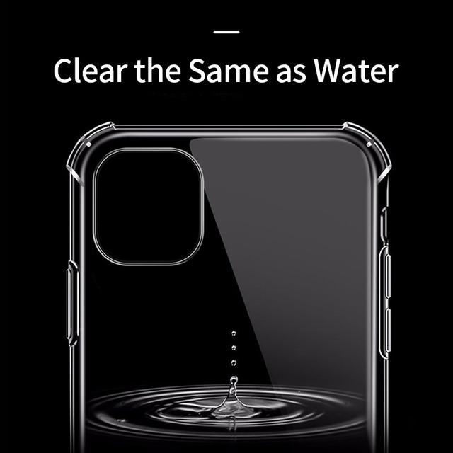 Shockproof Bumper Clear Silicone Case for iPhone 11/11 Pro/11 Pro Max 1