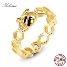 Kaletine роскошные серебряные кольца с сердечком 925 пробы пчелы