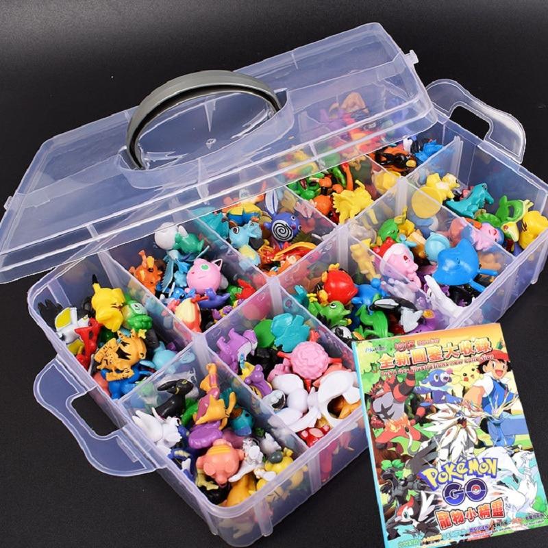 144Pcs Styles Pokemon toys Figures Model Collection 2-3cm Pokemon Pikachu Anime Figure Toys Dolls Child Christmas Halloween Gift 1