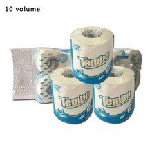 Three Layers Flexible Roll Paper Wood Pulp Toilet Paper Home Bath Toilet Roll Paper Tissue Roll Paper 10 Rolls