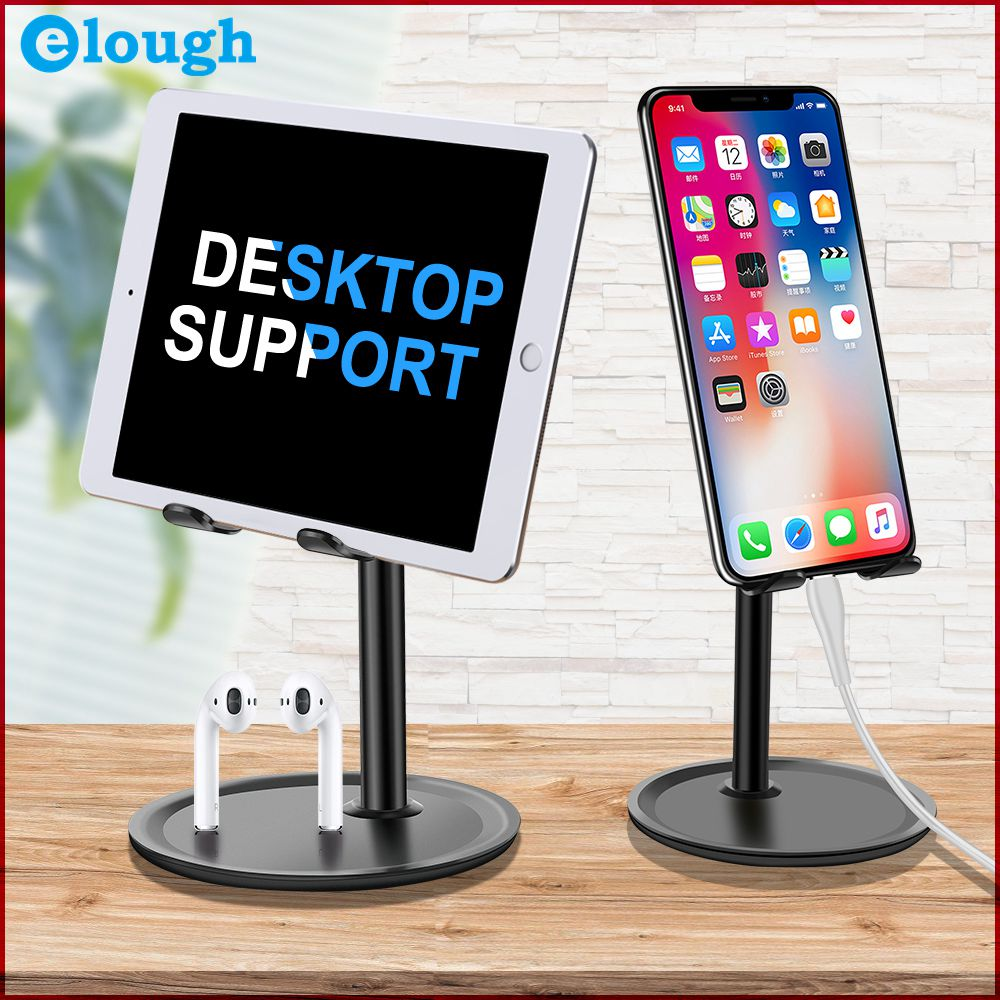 Elough Universal Desktop Mobile Phone Holder Stand For IPhone 7 8 Samsung Xiaomi Huawei IPad Tablet Smartphone Desk Stand Mount