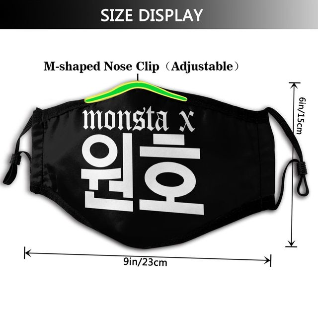 The Boyz Kpop Mouth Face Mask Monsta X Wonho Name Facial Mask Fashion Funny with 2 Filters for Adult 1