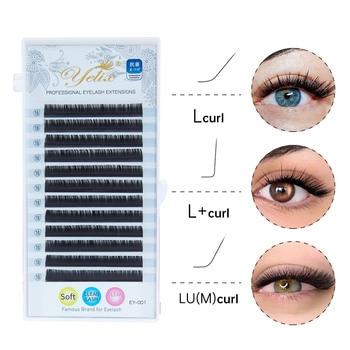 Yelix L Curl Lash Extension 8-15mm MIX Matte Mink Eyelashes Extension  Individual Eyelashes L+/LU/M Curl Makeup false Lashes 1