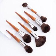 BBL Роскошные высококлассные кисти для макияжа Кабуки пудра основа румяна, маркер блендер для век кисти косметические Pincel Maquiagem