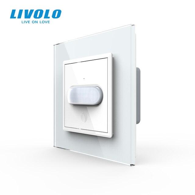 Livolo Interruptor de inducción táctil para el hogar, interruptor de luz de pared estándar europeo, inducción infrarroja, sin logotipo