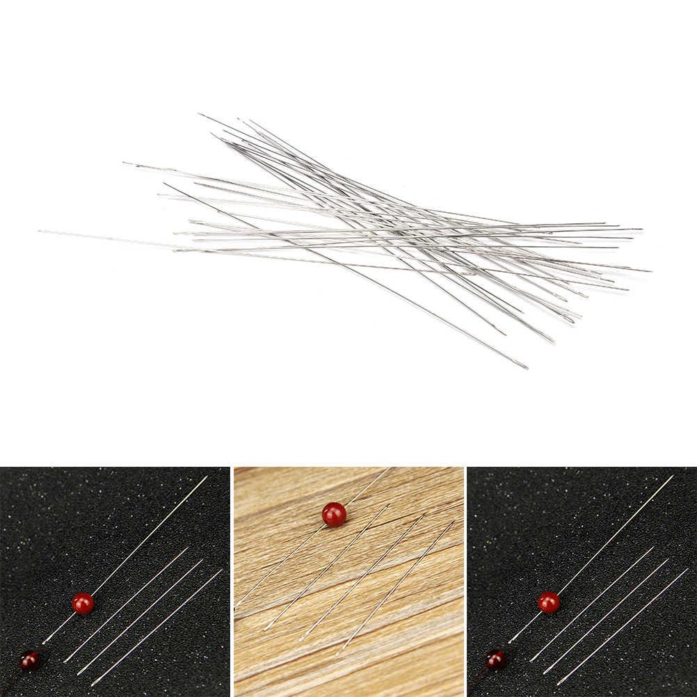 30pcs 0.6x120mm באיכות גבוהה גדול עין מעוקל ואגלי מחטי צמיד שרשרת Stringing DIY ביצוע כלי