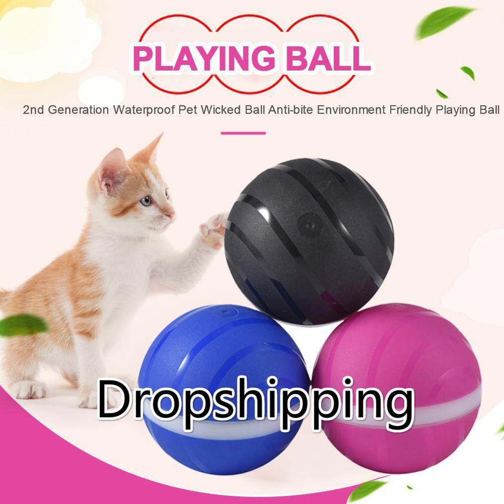 Newest 2nd Generation Pet Ball Waterproof Pet Wicked Ball Anti-bite Environment Friendly Pet Playing Ball Support Drop Shipping